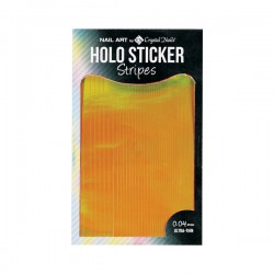 HOLO STICKER STRIPES - GOLD