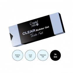 CLEAR BUILDER GEL TASTE KIT...